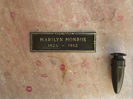 Marilyn Monroe's niche in the mausoleum (Photo credit: Tom Laemmel)