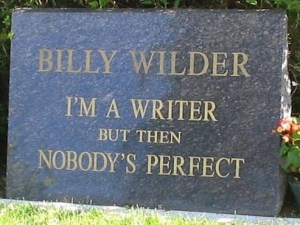 Billy Wilder's tombstone (Photo credit: Tom Laemmel)