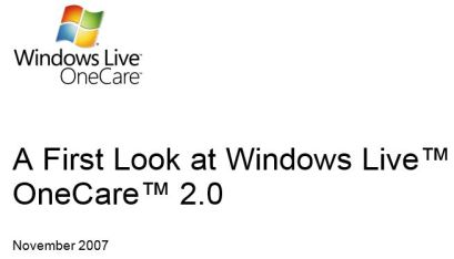 Windows Live One Care